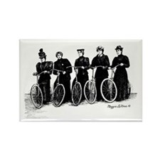 Five Lady Cyclers Rectangle Magnet