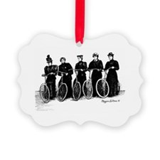 Five Lady Cyclers Ornament