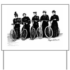 Five Lady Cyclers Yard Sign