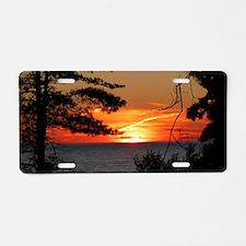 Lake Superior Sunset Aluminum License Plate