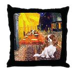 Cafe & Cavalier Throw Pillow