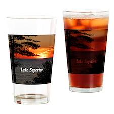 Lake Superior sunset Drinking Glass