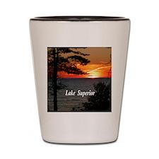 Lake Superior sunset Shot Glass