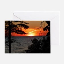 Lake Superior Sunset Greeting Cards