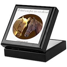 Horse Design by Chevalinite Keepsake Box
