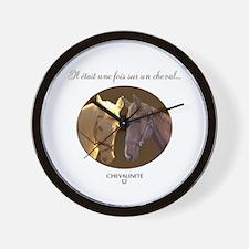 Horse Design by Chevalinite Wall Clock