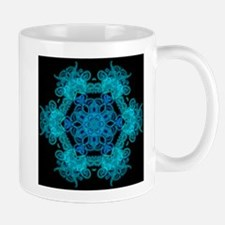 Burst Of Blue Mandala Mugs