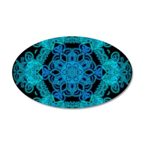 Burst Of Blue Mandala Wall Sticker