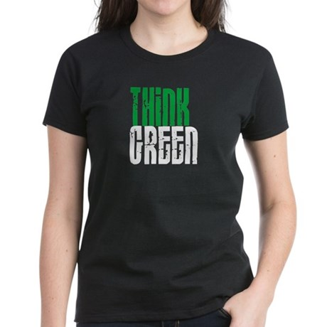 THINK GREEN Women's Dark T-Shirt
