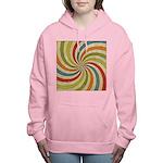 Psychedelic Retro Swirl Women's Hooded Sweatshirt