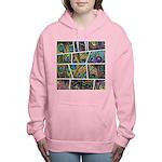 Peacock Cartoon - Women's Hooded Sweatshirt