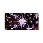 Sparkling Stars Aluminum License Plate
