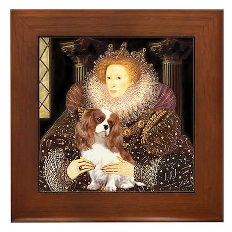 The Queen's Cavaliler Framed Tile