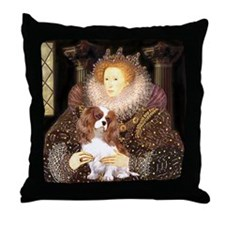 The Queen's Cavaliler Throw Pillow