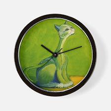The Green Cat - Original Desi Wall Clock
