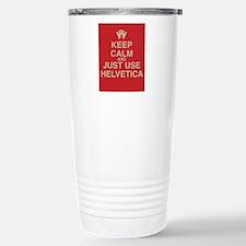 Cute Helvetica Travel Mug