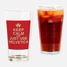 Cute Helvetica Drinking Glass