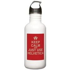 Cute Helvetica Water Bottle