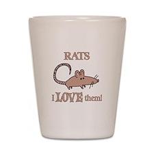 Rats Love Them Shot Glass