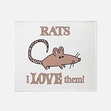 Rats Love Them Throw Blanket