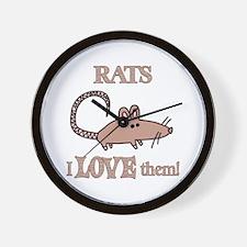 Rats Love Them Wall Clock