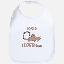 Rats Love Them Bib