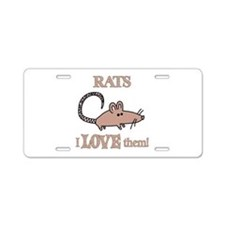 Rats Love Them Aluminum License Plate