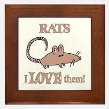 Rats Love Them Framed Tile