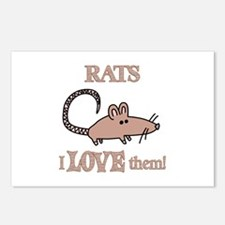 Rats Love Them Postcards (Package of 8)
