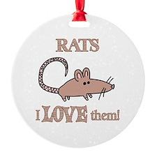 Rats Love Them Ornament