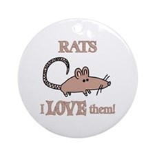 Rats Love Them Ornament (Round)