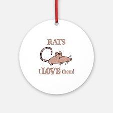 Rats Love Them Ornament (Round)