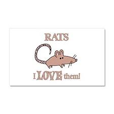 Rats Love Them Car Magnet 20 x 12