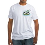 Magpie Drake and Duck Fitted T-Shirt