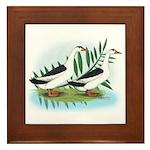 Magpie Drake and Duck Framed Tile