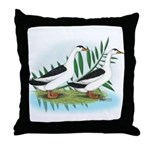 Magpie Drake and Duck Throw Pillow