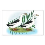 Magpie Drake and Duck Rectangle Sticker