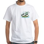 Magpie Drake and Duck White T-Shirt