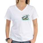 Magpie Drake and Duck Women's V-Neck T-Shirt