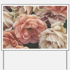 great garden roses, vintage look Yard Sign