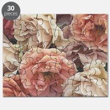 great garden roses, vintage look Puzzle