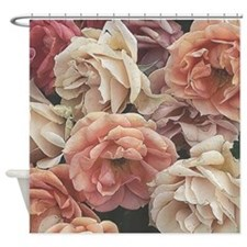 great garden roses, vintage look Shower Curtain