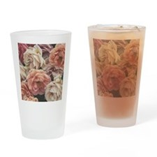 great garden roses, vintage look Drinking Glass