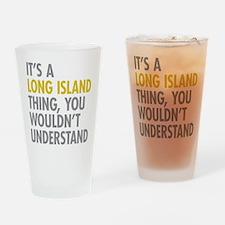Long Island NY Thing Drinking Glass