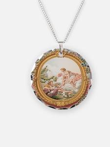 Ancient Victorian design in pastel tones Necklace