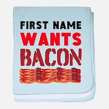 Wants Bacon baby blanket