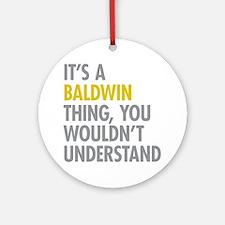Baldwin NY Thing Ornament (Round)