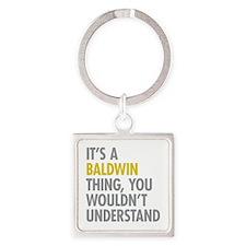 Baldwin NY Thing Square Keychain