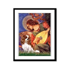 Mandolin Angel & Cavalier Framed Panel Print