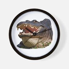alligator with teeth showing Wall Clock